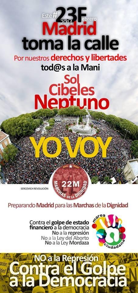 #23F en SOL con espíritu #15M ¡Todas las luchas contra toda represión!